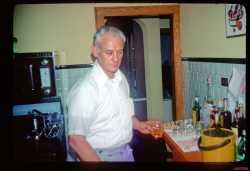 Cletus Grills at their Xmas party 1975