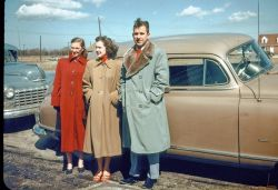 My godfather and namesake Norman Sethne with Marty Sethne and Frieda. In front of 618 N Phillippa, Hinsdale, IL 1950