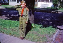 New Boy Scout Uniform. I loved Scouting and all the cool things we got to do.