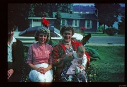 Pat (Lance's Wife), Irma, Pat, and Lana. First Great grandchild